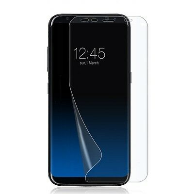 "2pcs Full Screen Protector for Samsung Galaxy S8 PLUS 6.2"" Clear TPU Film Saver"