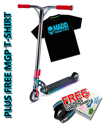 Madd Gear VX7 Team Limited Edition Scooter - Neochrome /Red + Free MGP T-Shirt