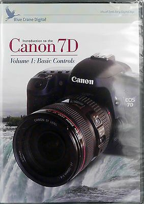 Blue Crane Digital DVD Guide Canon 7D Basic Controls new/sealed FREE SHIPPING!