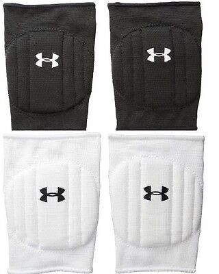 Under Armour UA Volleyball Knee Pads Pair Unisex Girls Black Or White S/M L/XL