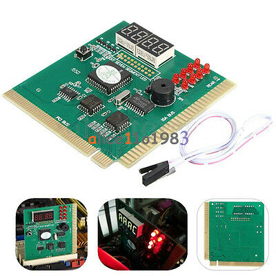 Digital LED 4 Analysis Diagnostic Tester POST Card PCI PC Analyzer Motherboard