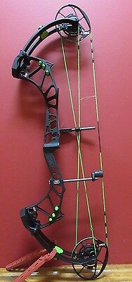 New 2017 Pse Evolve Custom Rh 40-60# Bow Black Neon Green String And Cables!!