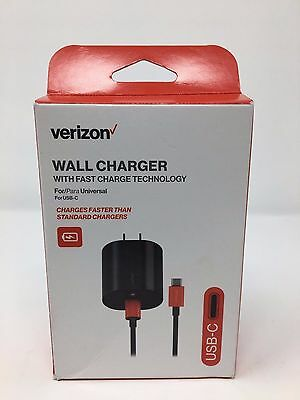 Original Verizon USB Type-C USB- C Wall Charger w/ Fast Charge 75% Faster - NEW