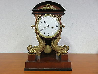 Empire / Biedermeier Pendule in Lyra-Form deutsch um 1800-1820 im Orig. Zustand
