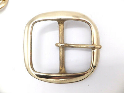 """Solid Brass [ 2"""" - 50 mm ] BRIDLE HARNESS BELT BUCKLE Leather craft"""