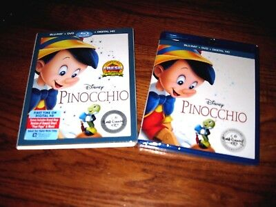 Pinocchio (Blu-ray/DVD/Digital HD, 2017; Signature Collection, 2-Disc Set) NEW