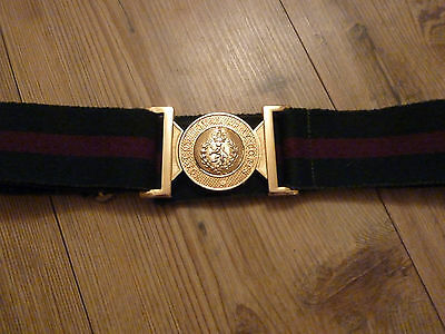 Wrac Stable Belt With Gold Metal Buckle British Army Issue