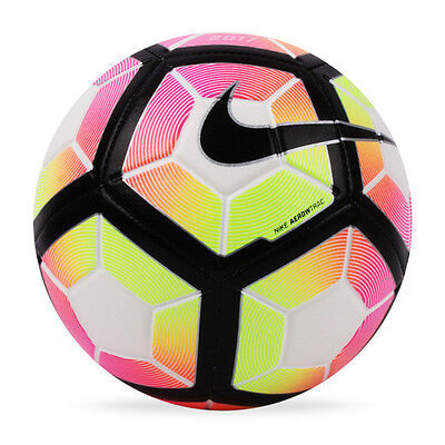 New Nike Strike Soccer Ball Size- 5 White/Black/Multi Color / SC2983 100