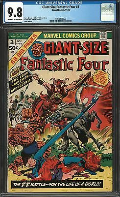 Giant-Size Fantastic Four #3 Cgc 9.8 Ow/w Pages 1974 Tied Highest Graded 9.8