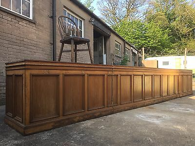 Antique 1920s Oak Shop Counter 6m Long - Kitchen Island /butchers Block/ Bar