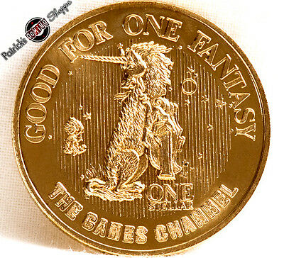 $1 Copper Slot Token Coin Mgm Grand Casino 1982 Games Channel Ncta Unicorn Vegas