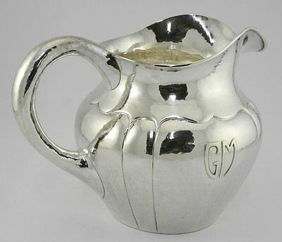 Magnificent Randahl Hand Wrought Sterling Silver Pitcher Mellon JOR Chicago