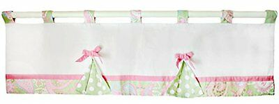 My Baby Sam Pixie Baby Curtain Valance, Pink & Green