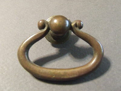 Antique Vintage Drawer Pull Single Pull Copper Tone Ring