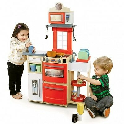 New Little Tikes Cook 'n Store Kitchen Red 638701M Pretend Play