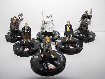 Heroclix Lord Of The Rings Fellowship Lot Rare Gandalf The White & Samwise