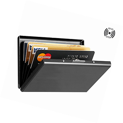 Best RFID Blocking Credit Card Holder, MaxGear™ Stainless Steel Card Hold