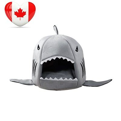 Cat Dog Bed Keepfit Grey Shark Collapsible Pet Puppy Warm House Cave...