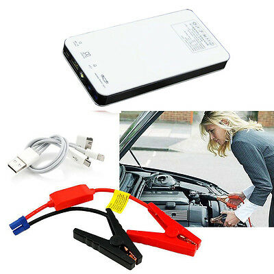 20000mAh Emergency Portable Car Jump Starter Power Battery Charger Clamps New UK