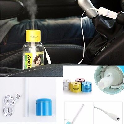 Nice Mini Portable USB Water Bottle Cap Humidifier Air Diffuser Aroma Mist Maker