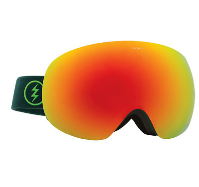Electric Eg3 2017 Goggles Hunter Green Brose Red Chrome Snow Free Post Australia
