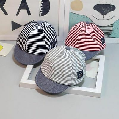 Unisex Baby Boys Girls Striped Baseball Hat Snapback Cap Cool Sun Hat Adjustable