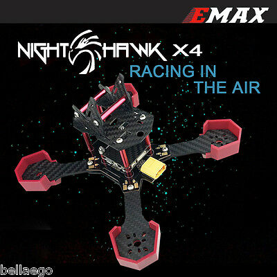 EMAX Nighthawk-X4 Racing Frame for RC Quadcopter Drone 3 Programmable DIY Kit