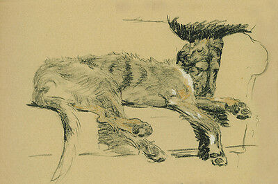 Irish Wolfhound Dog On Couch by Cecil Aldin 1934 - LARGE New Blank Note Cards
