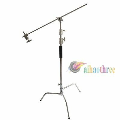 Photography Studio Flash Heavy Duty C Stand Light Stand With Boom Arm Load-10KG