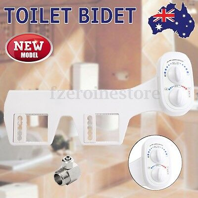 Fresh Warm Hot Water Non-Electric Adjustable Angle Bidet Toilet Attachment