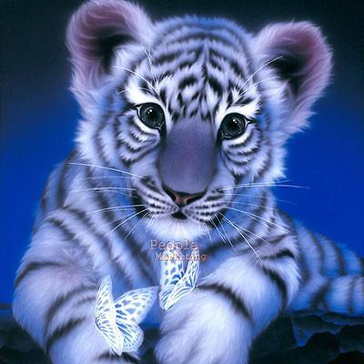 Tiger DIY 5D Embroidery Diamond Sticker Cross Stitch Painting Craft Home Decor