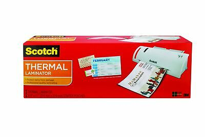 "Scotch Thermal 9"" Laminator Hot Cold 2 Roller Card Pouch Machine TL902MIR - NEW"