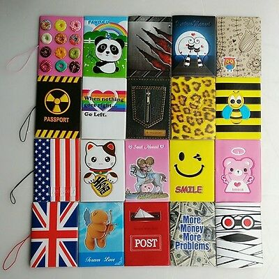 New Passport Holder ID Card Cover Travel Wallet Card Organizer Protector PVC