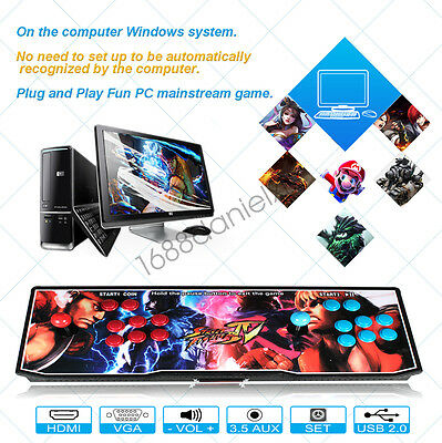 2017 Metal Box Arcade Video Game Machine 680 Games 2 Player Pandora's Box 4S Kit