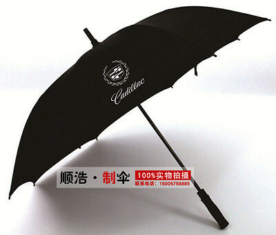Black Cadillac Car Logo Vintage Businessmen' Windproof Long Handle Umbrella 2017
