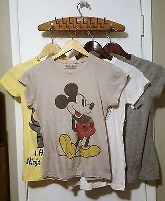 LOT of 4 Juniors Graphic T Shirts S