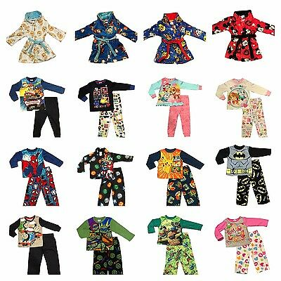 New Size 1-10 Kids Pyjamas Winter Boys Girls Sleepwear Pjs