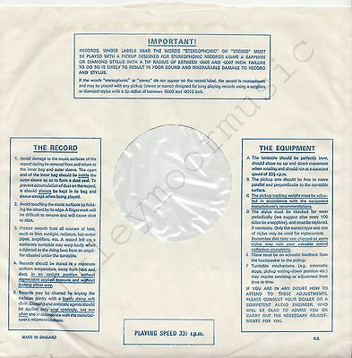 """Vintage INNER SLEEVE or SLEEVES 12"""" IMPORTANT! THE RECORD EQUIPMENT lines v2 x 1"""