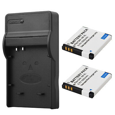 2x NB8L Battery Pack + Charger For Canon PowerShot A3300 A3200 A3100 A3000 A2200