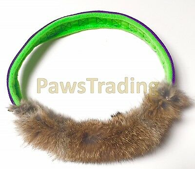 Bunny power Rabbit Fur Ring great for motivation reward Tug play game dog toy