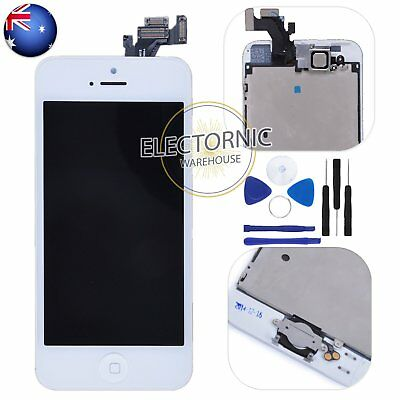 LCD Display Touch Screen Digitizer Home Button Front Cam Assembly For iPhone 5