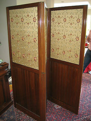 Fantastic Quality Antique Victorian Mahogany Tri-Fold Screen/Room Divider