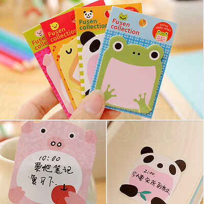 2pcs Cute Animal Sticker Office Bookmark Point Marker Memo Sticky Notes