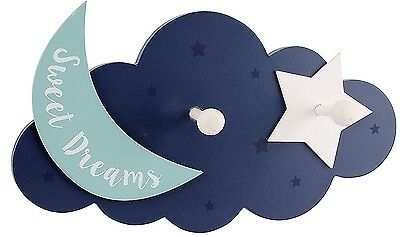 SWEET DREAMS My First Years CLOUD MOON HOOKS CHILDREN'S BEDROOM PLAYROOM NURSERY