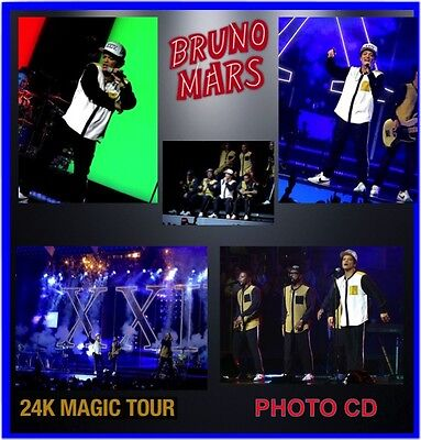 Bruno Mars 24Kt Gold Tour 2017 Concert Live Photo Cd 1800