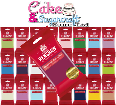 Renshaw Ready to Roll Icing 250g, 500g, 750g, 1kg - All Colours Free Post