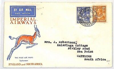 BH23 1932 NORTHERN RHODESIA Broken Hill  SOUTH AFRICA Cape Town Imperial Airways