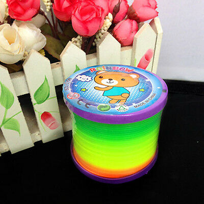 Rainbow Coloured Spring Slinky Children Toy Springs Bouncy Toy For Party Gift MW