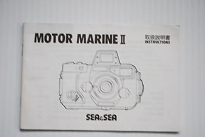 Sea & Sea Motor Marine II Camera Instruction Book / Guide / Manual