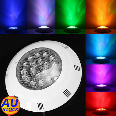 AU 7 Color 24V 252 LED RGB Underwater Swimming Pool Bright Light +Remote Control